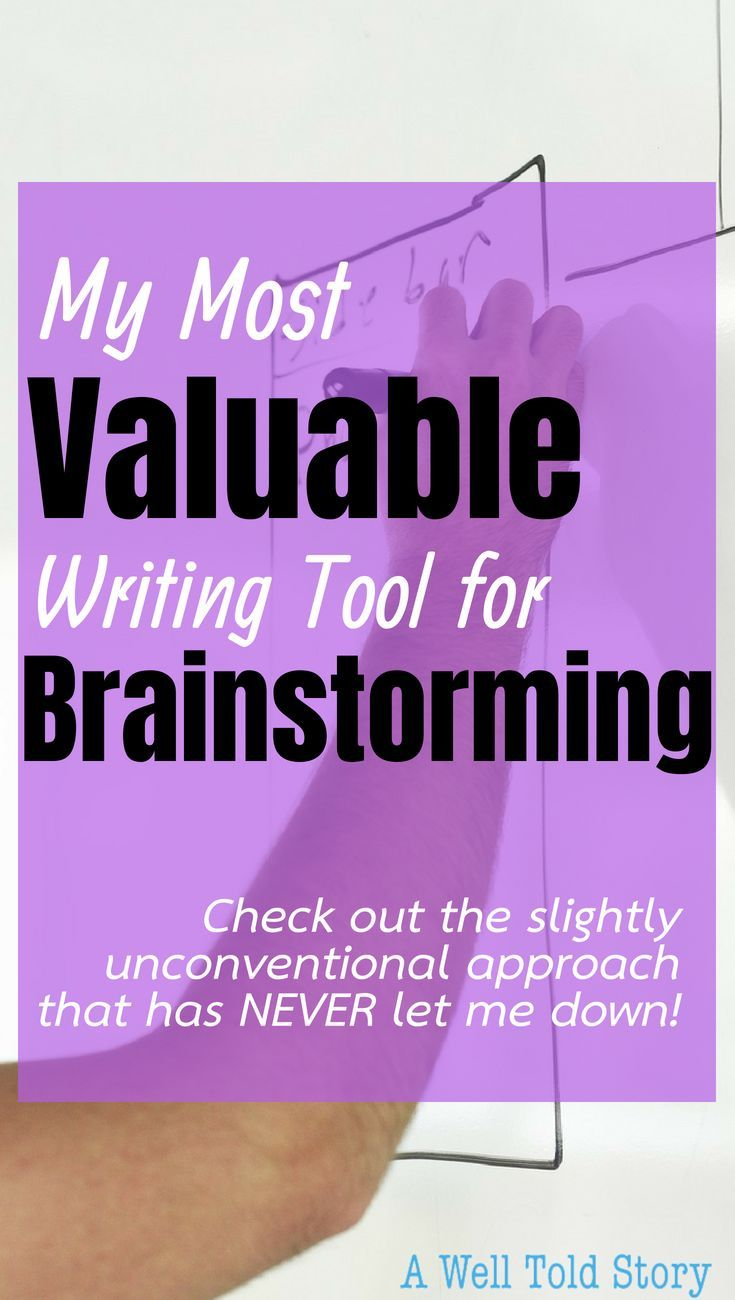 how can brainstorming help you with the writing process