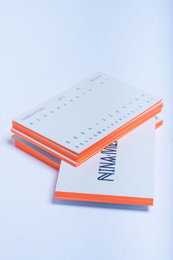 Nina Mengin Identity by Maximilian Huber, via Behance #businesscard