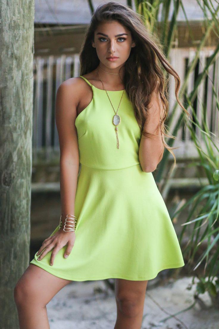 Bora Bora Lime Green Dress