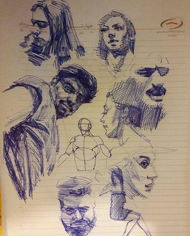 "120 Likes, 2 Comments - @sorouushhjahdi05 on Instagram: ""#drawing #sketh #oilpainting #portrait #painting #figurative #figure #anatomy #artist #اسکیس #طراحی"""