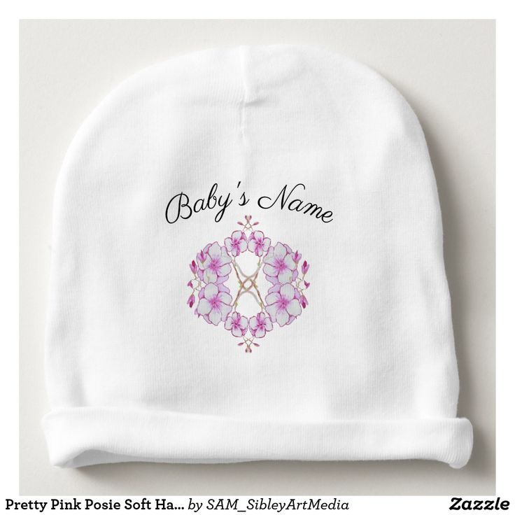 Pretty Pink Posie Soft Hat  For Baby Girl