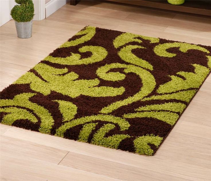 Majesty 5107 Brown Green Rug