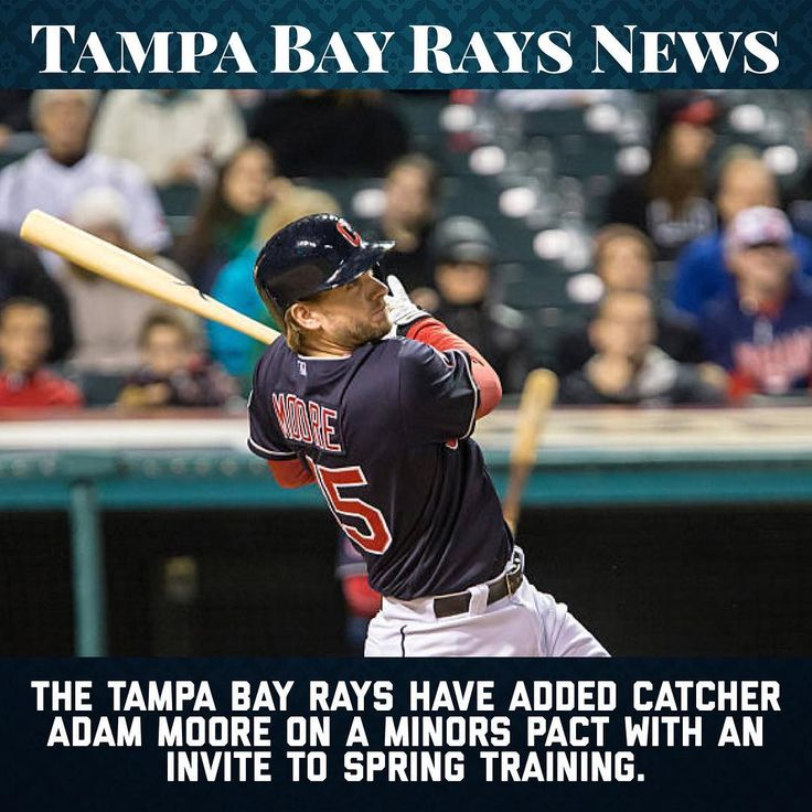 The Rays have given catcher Adam Moore an invite to spring training. This is likely just to have a catcher available to get pitchers some work in as he didnt play in the majors last year. When he had played he owns a .197/.237/.303 career slash line. Probably wont play for the Rays this year but who knows he could surprise us. - - #rays #tampa #raysup #tampabay #stpetersburg #nyy #nyc #newyork #yankees #boston #redsox #baltimore #orioles #toronto #bluejays