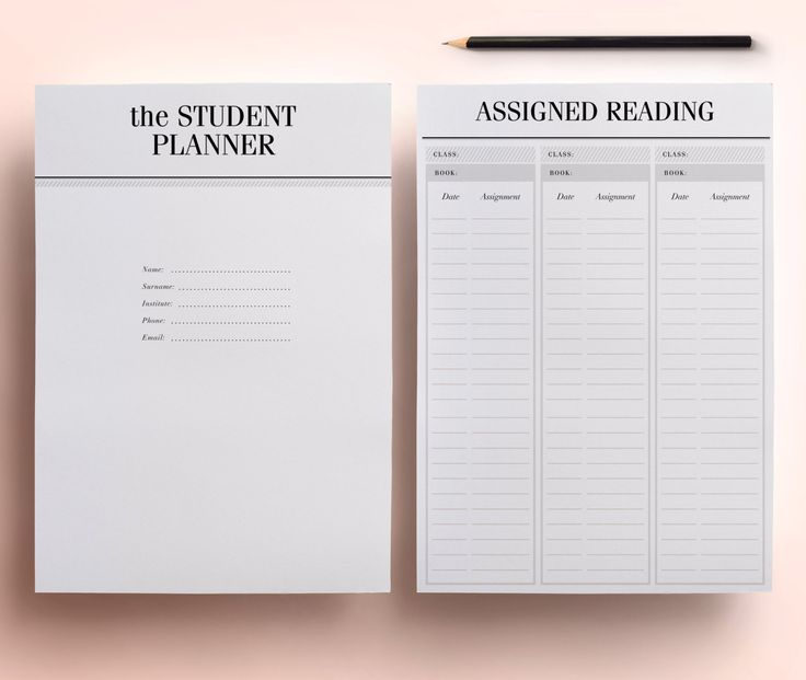 Student Planner A4 / A5 College Planner by CrossbowPrintables