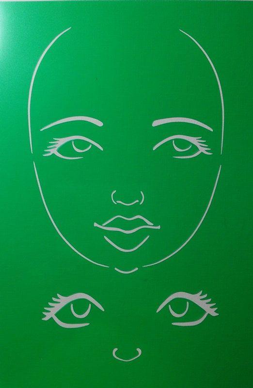 STENCIL Original face stencil Goddess Face use by ODDimagination