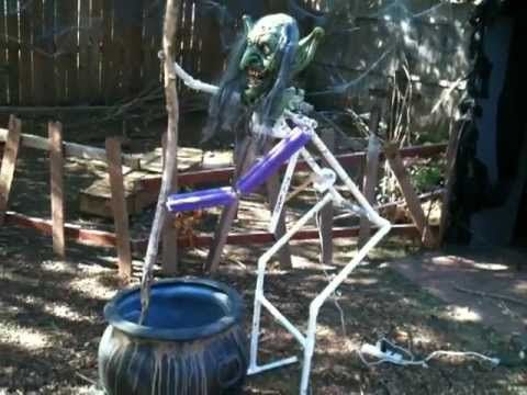 ▶ Cauldron Stirring Witch Naked!-Halloween Prop - YouTube by Cyclone Jack #MonsterGuts
