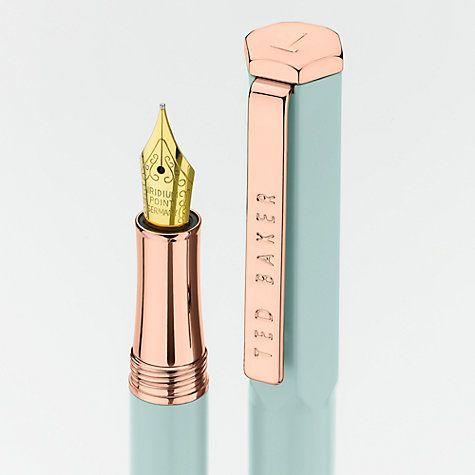 Buy Ted Baker Rose Gold Fountain Pen Online at johnlewis.com