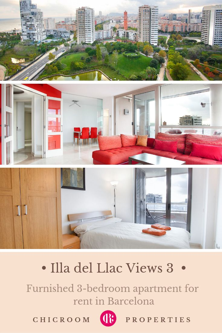 Furnished 3 Bedroom Apartment For Rent In Diagonal Mar Barcelona Illa Del Llac Views 3 Furnished Apartments For Rent Luxury Apartments Apartments For Rent