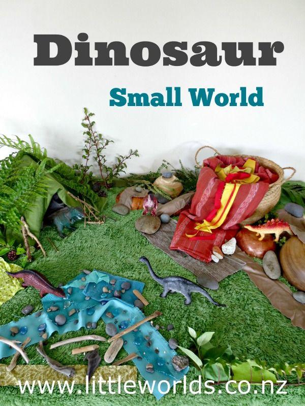 Imaginative Play: Setting up a Dinosaur Small World