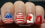 Canadian and American Patriotic Nails!