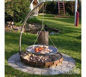 Campfire 1 - jordspyd m. arm og rund rist