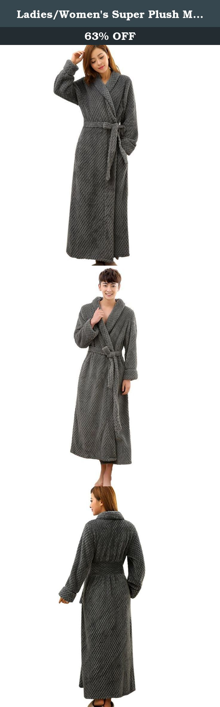 Ladies/Women's Super Plush Microfiber Fleece Bathrobe Robe US size S/L. If you have any questions,please feel free to contact us ,please consider whether you could accept the vary color due to the lighting. If you like it, please share your feelings with us by leaving reviews below.Thanks!.