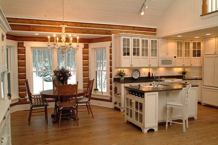 A Modern Log Cabin With Traditional Style