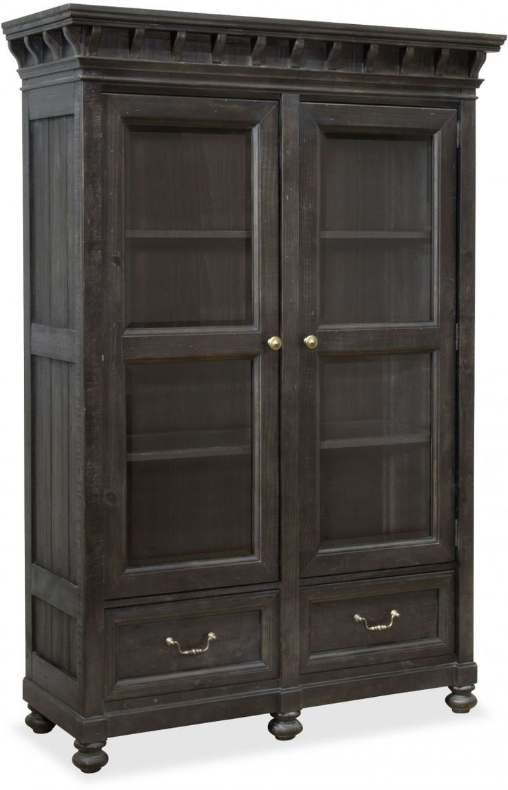 Bedford Corners Anvil Black China Cabinet