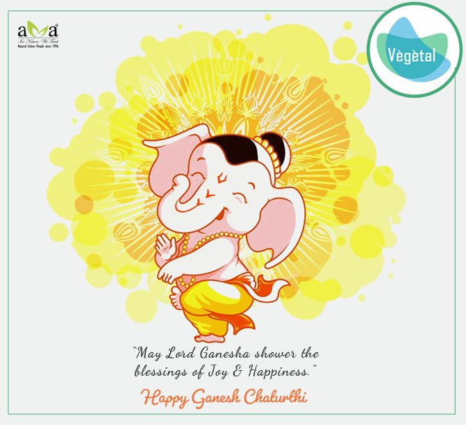 Vegetal Personal Care Team Wishes You a Very Happy Ganesh Chaturthi. #VegetalPersonalCare #Products are extracts of #NaturalHerbs & are #ChemicalFree  For more details: http://bit.ly/2kJu7h9