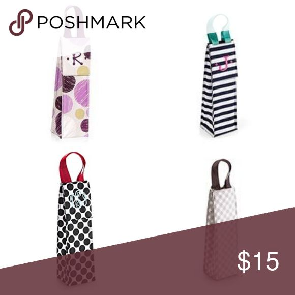 """Thirty-One 31 Perfect Bottle Thermals No Monogram on any bags!   This bottle thermal is the perfect present for party hostess, co-workers or any special occasion on your calendar this fall. This fashionable beverage tote keeps your drinks cool on the way to the party and can be reused time and time again. 13.75""""H x 4""""W x 4""""D thirty-one Bags"""
