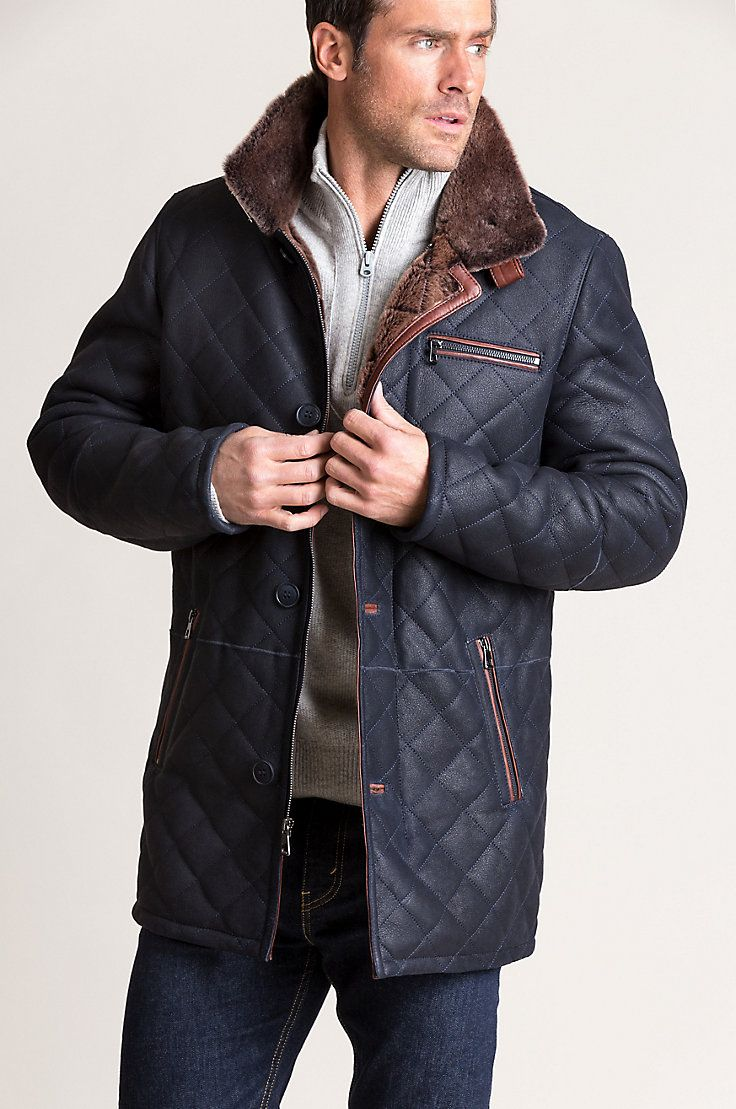 The Warmth And Comfort Of Luxurious Spanish Sheepskin Presents This Quilted Design Free Shipping Quilted Jacket Men Stylish Leather Jacket Mens Winter Fashion [ 1109 x 736 Pixel ]