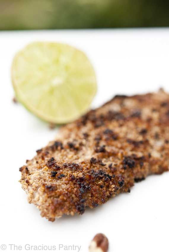 Clean Eating Pecan Crusted Dover Sole (Makes 2 servings) Ingredients:  1/2 pound Wild caught dover sole fillets 3/4 cup pecan pieces 1 tablespoon garlic powder Zest of one lime 1 whole egg