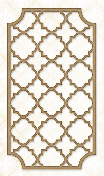 Blue Fern Studios - Chipboard - Quatrefoil Garden Panel,$4.99