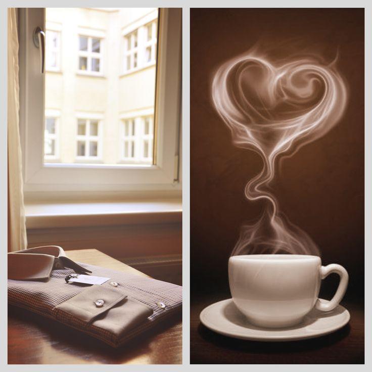 Nu ne lipsesc in nicio dimineata: o cafea buna, o camasa perfecta si multa iubire!  bit.ly/AE-Camasa-maro-cu-guler-si-mansete-crem ---------- We cannot start our morning without: a good coffee, a perfect shirt and lots of love! #ALISIAENCO #brownshirt