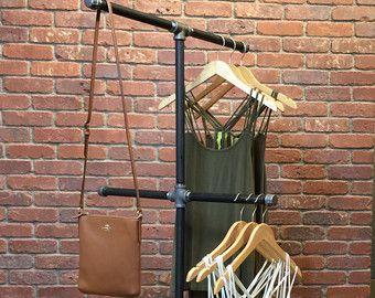 Industrial Pipe Clothing Rack 48 by WilliamRobertVintage on Etsy
