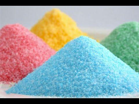 Come fare lo zucchero colorato   Consigli in un minuto - YouTube