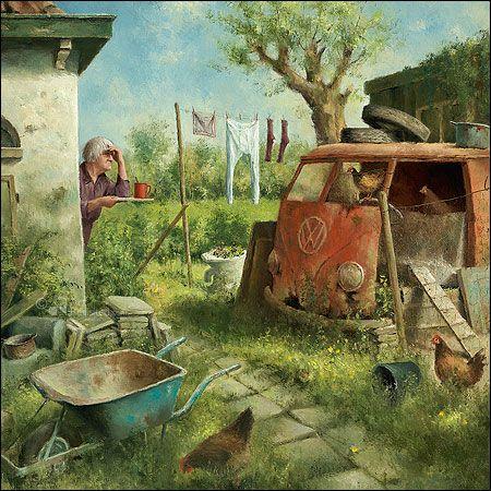 Kippenhok   Marius van Dokkum - Art Revisited