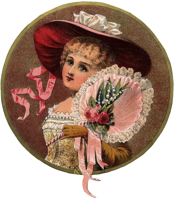 Victorian Beauty with Fan Image! - The Graphics Fairy: