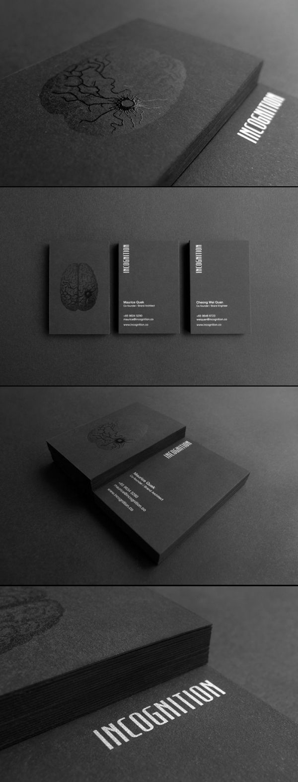 Unique Business Card, Incognition #businesscards #design (http://www.pinterest.com/aldenchong/)