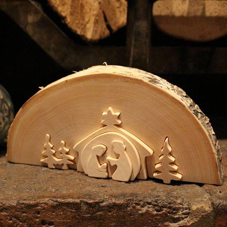 traditional wooden nativity scene medium by nest | notonthehighstreet.com