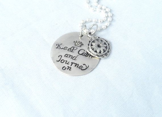 Hand Stampe Jewelry Graduation Gift Travel Gift by AGlassofHarmony, $15.00