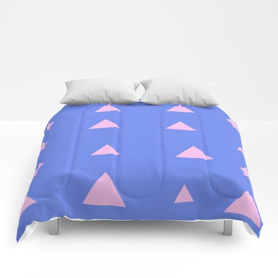 Quirky Triangles Comforters by Bravely Optimistic | Society6
