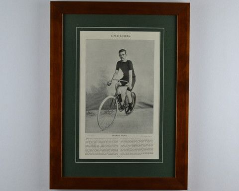 Vintage Cycling Book Plate Framed – Vintage sport art by ArtSportive
