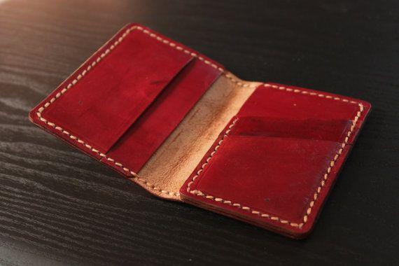 Portefeuille en cuir pour hommes / personnalisée de par lotussilk