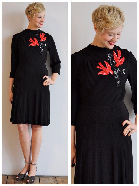 Black dress 40 s style 6556
