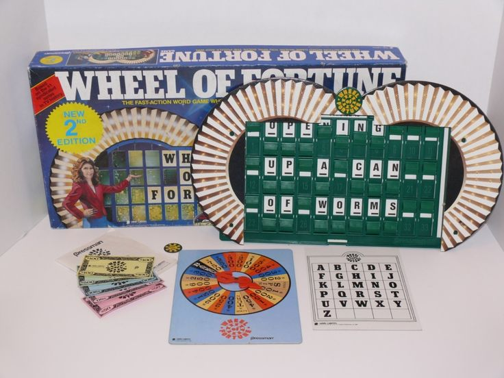 Wheel of fortune board game 1985 2nd edition merv griffin ...