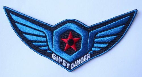 Sci Fi Pacific Rim Movie Gipsy Danger Alien Monster Kaiju American Jaeger Patch - Embroidery - Sew on - Iron on - 4 inches