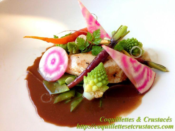 recette de gibier, recette de perdreaux, sauce vin rouge, pois-gourmand, choux romanesco, carottes fanes, betterave chioggia