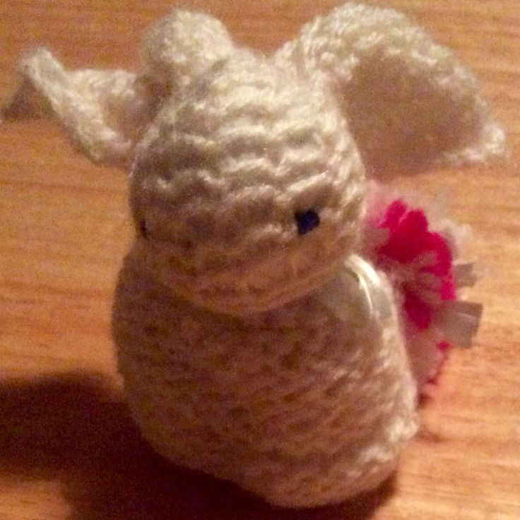 New item hand made bunny with pompom tail