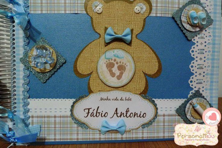 Album azul e marrom - tema : urso
