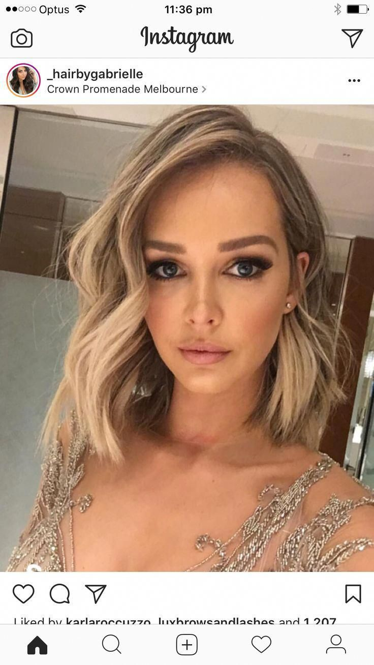 Love Her Makeup And Hair Vanessa Blondehair Hair Styles Short Hair Styles Prom Hairstyles For Short Hair