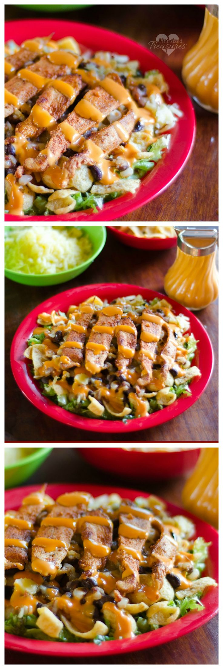 Southwestern Chopped Chicken Salad --- it's the salad of your dreams! Booming with fresh flavors and toppings this chopped salad is going to be your fave salad recipe ever! Includes a simple but amazing spice rub! #bestrecipesever #salads #choppedsalads #southwestern