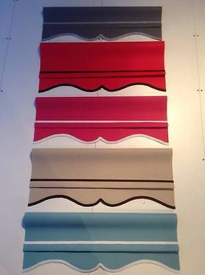 Details About Coloured Roller Blinds Scalloped Edge Grey