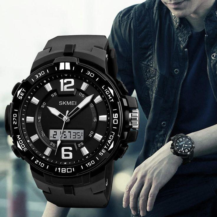 SKMEI 1273 Outdooors Men Digital Watch 50M Waterproof Multifunction Fashionable LED Wirstwatches at Banggood