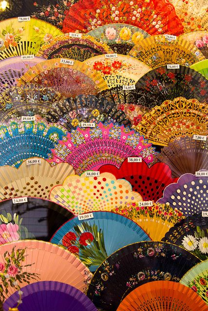 Gorgeous Fans of Many Colors