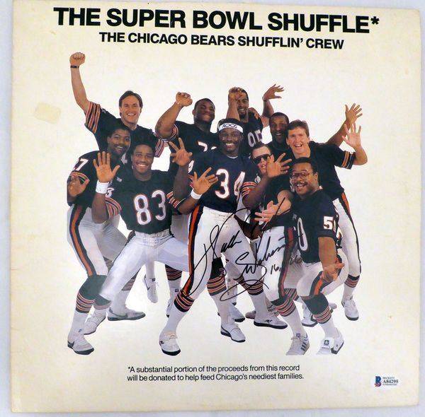 "Walter Payton Autographed Chicago Bears Super Bowl Shuffle Album """"Sweetness & 16,726"""" Beckett BAS #A84295"