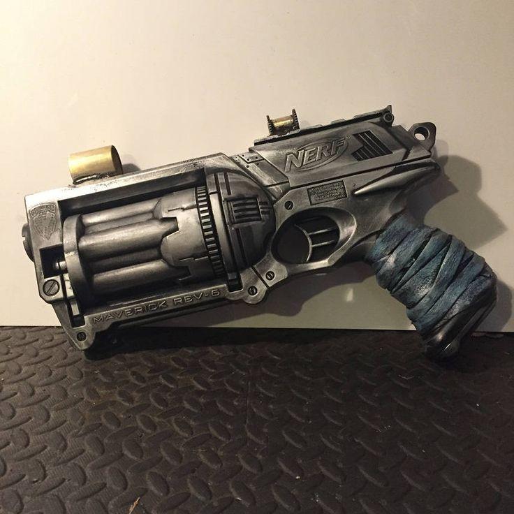 Steampunk Cosplay Nerf Gun Foam Blaster Ray Gun, Shooter Hand Painted Prop Gun With Scope by Steampunkbyben on Etsy http://riflescopescenter.com/category/hawke-riflescope-reviews/