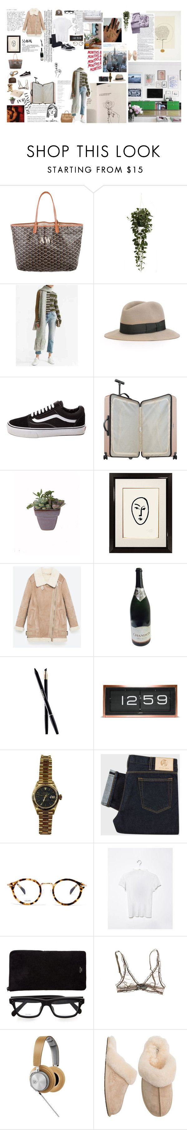 """""""lu-ci-dity, come back to me"""" by angeladylovely ❤ liked on Polyvore featuring Twenty, Goyard, Nearly Natural, Acne Studios, Hermès, Versace, Vans, Munn Works, Leica and Chanel"""