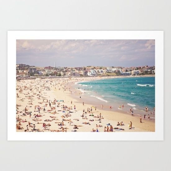 Buy Bondi Beach  Art Print by Sweet Little Pixels. Worldwide shipping available at Society6.com. Just one of millions of high quality products available.
