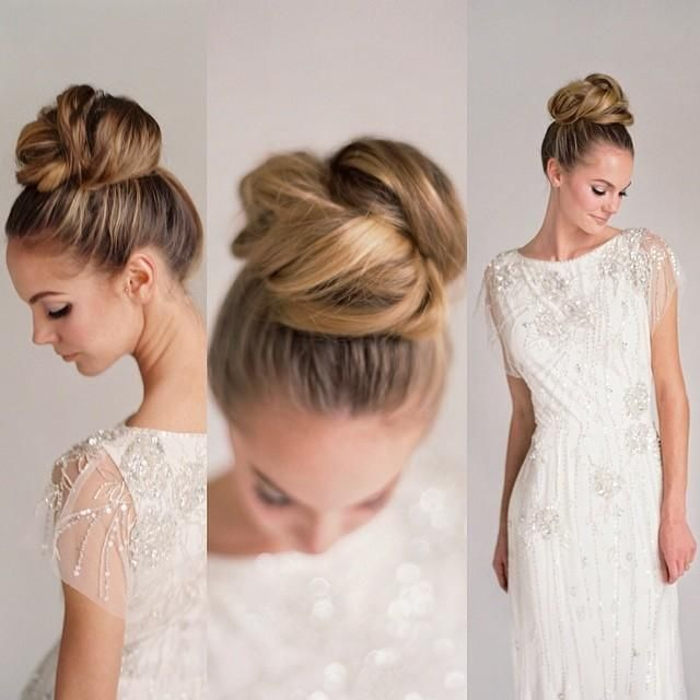 Stupendous 1000 Ideas About Bridal Bun On Pinterest Wedding Makeup Bridal Short Hairstyles For Black Women Fulllsitofus
